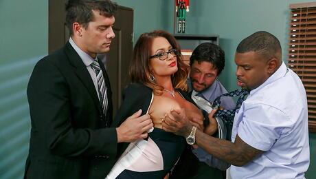 Interracial Gangbang Milf Porn